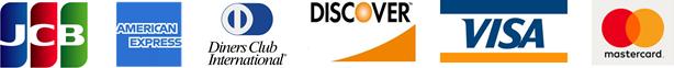 利用可能カード:JCB・アメリカンエキスプレス・ダイナースクラブ・DISCOVER・VISA・マスターカード